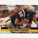 1991 Pro Set Football #640 Rod Bernstine - San Diego Chargers