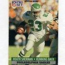 1991 Pro Set Football #619 Heath Sherman - Philadelphia Eagles