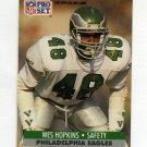 1991 Pro Set Football #617 Wes Hopkins - Philadelphia Eagles