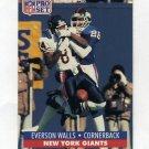 1991 Pro Set Football #603 Everson Walls - New York Giants