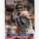 1991 Pro Set Football #601 Phil Simms - New York Giants