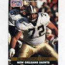1991 Pro Set Football #588 Jim Dombrowski - New Orleans Saints