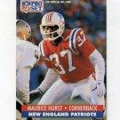 1991 Pro Set Football #581 Maurice Hurst - New England Patriots