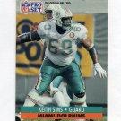 1991 Pro Set Football #567 Keith Sims - Miami Dolphins