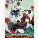 1991 Pro Set Football #566 Tony Paige - Miami Dolphins