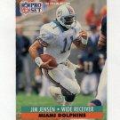1991 Pro Set Football #564 Jim C. Jensen - Miami Dolphins