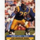1991 Pro Set Football #556 Jackie Slater - Los Angeles Rams