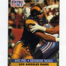 1991 Pro Set Football #555 Mike Piel - Los Angeles Rams