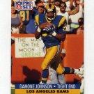 1991 Pro Set Football #552 Damone Johnson RC - Los Angeles Rams