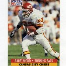 1991 Pro Set Football #540 Barry Word - Kansas City Chiefs