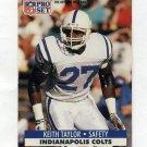 1991 Pro Set Football #530 Keith Taylor - Indianapolis Colts