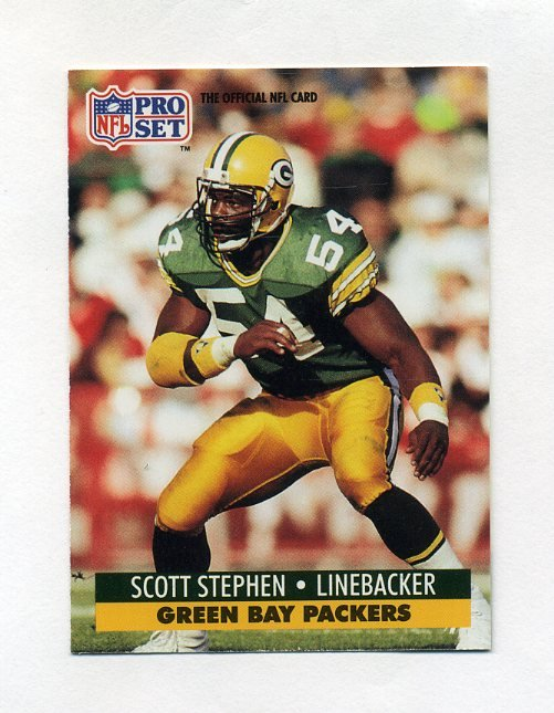 Toy Stores Green Bay : Pro set football scott stephen rc green bay