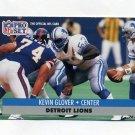 1991 Pro Set Football #499 Kevin Glover - Detroit Lions