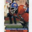 1991 Pro Set Football #494 Warren Powers - Denver Broncos