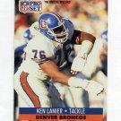 1991 Pro Set Football #493 Ken Lanier - Denver Broncos