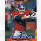 1991 Pro Set Football #492 Greg Kragen - Denver Broncos