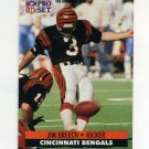 1991 Pro Set Football #460 Jim Breech - Cincinnati Bengals