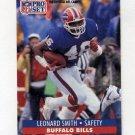1991 Pro Set Football #450 Leonard Smith - Buffalo Bills