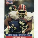 1991 Pro Set Football #449 Leon Seals - Buffalo Bills