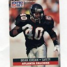 1991 Pro Set Football #436 Brian Jordan - Atlanta Falcons