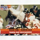 1991 Pro Set Football #308 Reggie Cobb - Tampa Bay Buccaneers