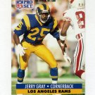 1991 Pro Set Football #201 Jerry Gray - Los Angeles Rams