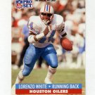 1991 Pro Set Football #170 Lorenzo White - Houston Oilers