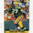 1991 Pro Set Football #158 Mark Murphy - Green Bay Packers