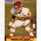 1991 Pro Set Football #187 Kevin Porter - Kansas City Chiefs