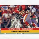 1991 Pro Set Football #185 Christian Okoye - Kansas City Chiefs