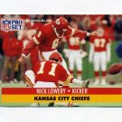 1991 Pro Set Football #184 Nick Lowery - Kansas City Chiefs