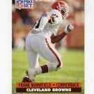 1991 Pro Set Football #124 Frank Minnifield - Cleveland Browns