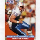 1991 Pro Set Football #163 Ray Childress - Houston Oilers