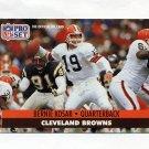 1991 Pro Set Football #121A Bernie Kosar - Cleveland Browns