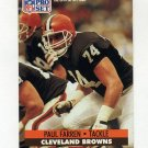 1991 Pro Set Football #118 Paul Farren - Cleveland Browns