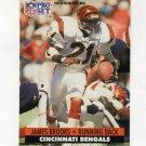 1991 Pro Set Football #110 James Brooks - Cincinnati Bengals