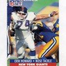 1991 Pro Set Football #064 Erik Howard - New York Giants