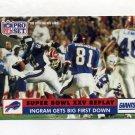 1991 Pro Set Football #050 Mark Ingram - New York Giants