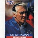 1991 Pro Set Football #090 Marv Levy CO - Buffalo Bills