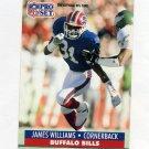1991 Pro Set Football #087 James Williams - Buffalo Bills