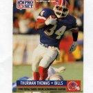 1991 Pro Set Football #013 Thurman Thomas - Buffalo Bills