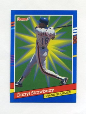 1991 Donruss Baseball Grand Slammers #13 Darryl Strawberry - New York Mets