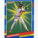 1991 Donruss Baseball Grand Slammers #10 Luis Polonia - California Angels