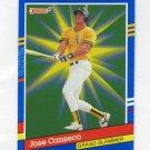 1991 Donruss Baseball Grand Slammers #04 Jose Canseco - Oakland A's