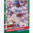 1991 Donruss Baseball Bonus Cards #BC11 Fernando Valenzuela - Los Angeles Dodgers