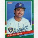 1991 Donruss Baseball #764 Julio Machado - Milwaukee Brewers