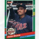 1991 Donruss Baseball #758 Pedro Munoz RC - Minnesota Twins