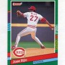 1991 Donruss Baseball #722 Jose Rijo - Cincinnati Reds