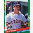 1991 Donruss Baseball #717 Walt Terrell - Detroit Tigers