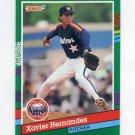1991 Donruss Baseball #708 Xavier Hernandez - Houston Astros